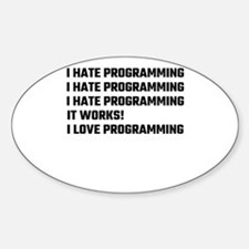 I Love Programming Decal