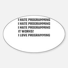 I Love Programming Decal