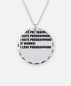 I Love Programming Necklace