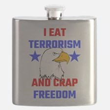 I Eat Terrorism And Crap Freedom Flask