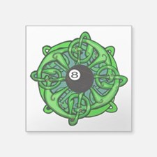 "Irish Invader 8 Ball St Pat Square Sticker 3"" x 3"""