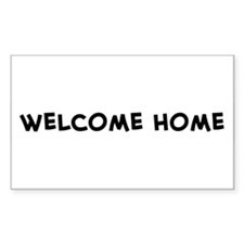 Welcome Home Rectangle Decal