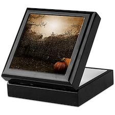 Autumn Stone Fence Keepsake Box