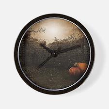Autumn Stone Fence Wall Clock