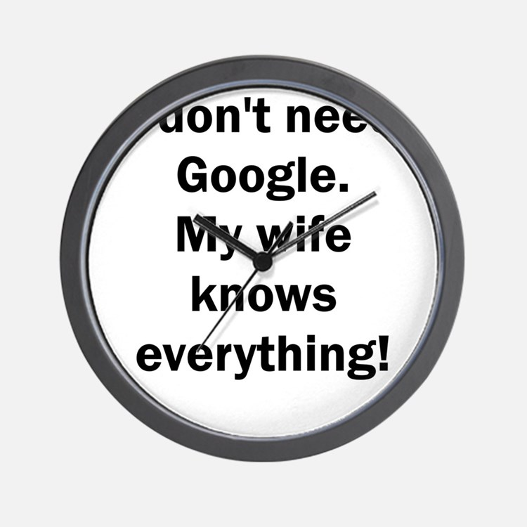 I don't need Google. My wife knows ever Wall Clock
