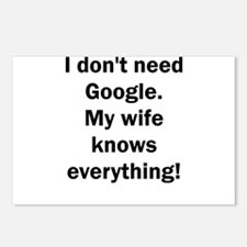 I don't need Google. My w Postcards (Package of 8)