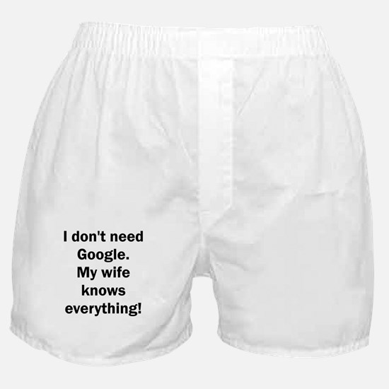 I don't need Google. My wife knows ev Boxer Shorts