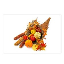 Thanksgiving Cornucopia Postcards (Package of 8)