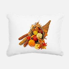 Thanksgiving Cornucopia Rectangular Canvas Pillow
