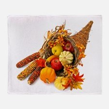 Thanksgiving Cornucopia Throw Blanket