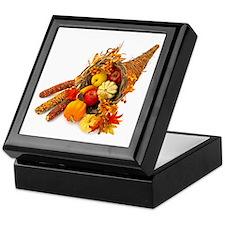 Thanksgiving Cornucopia Keepsake Box