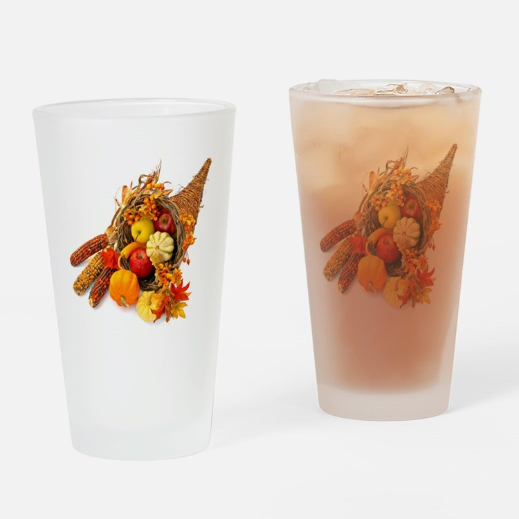 Thanksgiving Cornucopia Drinking Glass