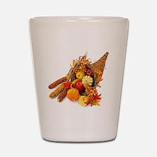 Thanksgiving Cornucopia Shot Glass