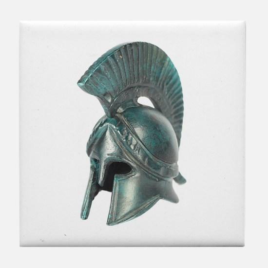 Antique Greek Helmet Tile Coaster
