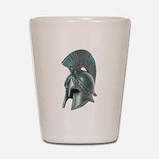 Antique Greek Helmet Shot Glass