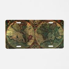Ancient Map Aluminum License Plate