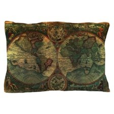 Ancient Map Pillow Case