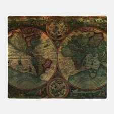 Ancient Map Throw Blanket