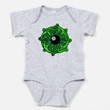 Irish Invader 8 Ball St Patricks Day Baby Bodysuit