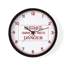 Danger 11,000 Volts, India Wall Clock
