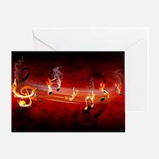 Hot Music Notes Greeting Card
