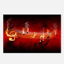 Hot Music Notes Postcards (Package of 8)
