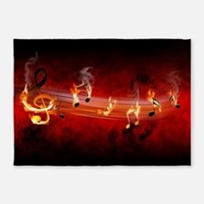 Hot Music Notes 5'x7'Area Rug