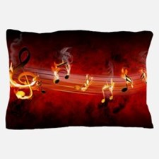 Hot Music Notes Pillow Case
