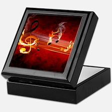 Hot Music Notes Keepsake Box