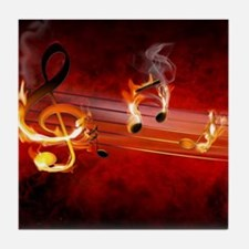 Hot Music Notes Tile Coaster