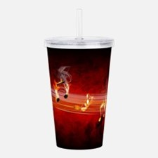 Hot Music Notes Acrylic Double-wall Tumbler