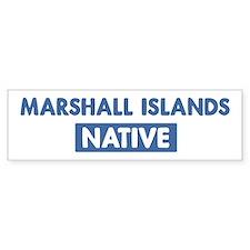 MARSHALL ISLANDS native Bumper Bumper Sticker