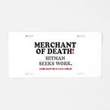 MERCHANT OF DEATH - HITMAN Aluminum License Plate