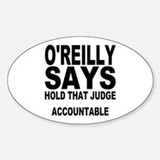 HOLD THAT JUDGE ACCOUNTABLE Oval Decal