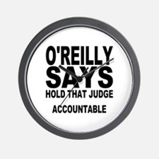HOLD THAT JUDGE ACCOUNTABLE Wall Clock
