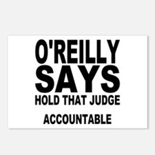 HOLD THAT JUDGE ACCOUNTABLE Postcards (Package of