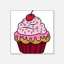 "Cute Cupcake Square Sticker 3"" x 3"""
