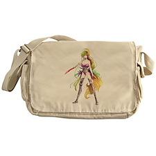 Manga Warrior Woman Messenger Bag