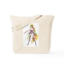 Manga Warrior Woman Tote Bag