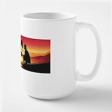Cowboy and Horse at Sunset Mug