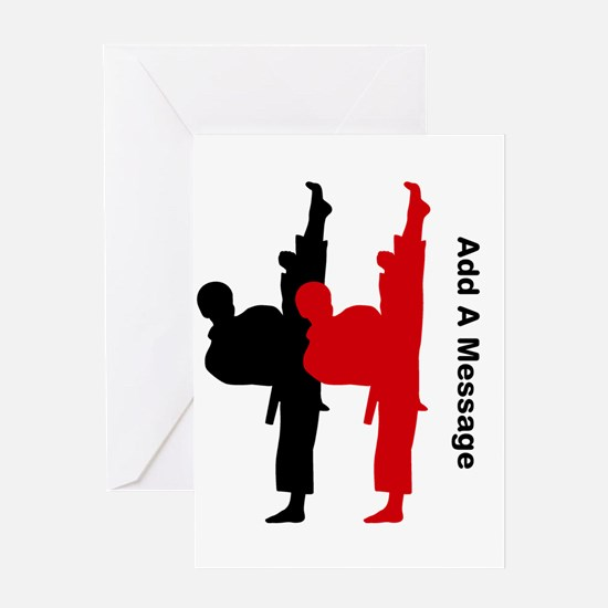 Karate Invitation Greeting Cards