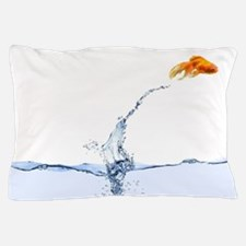 Jumping Gold Fish Pillow Case