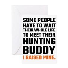 Hunting Buddy Father Son Greeting Cards