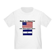 Made In America With Nicaraguan Parts T-Shirt