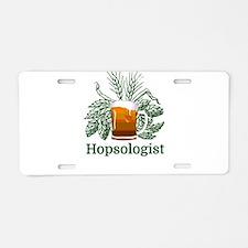 Hopsologist Aluminum License Plate