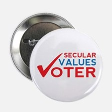 """Secular Values Voter 2.25"""" Button"""