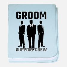 Groom Support Crew baby blanket