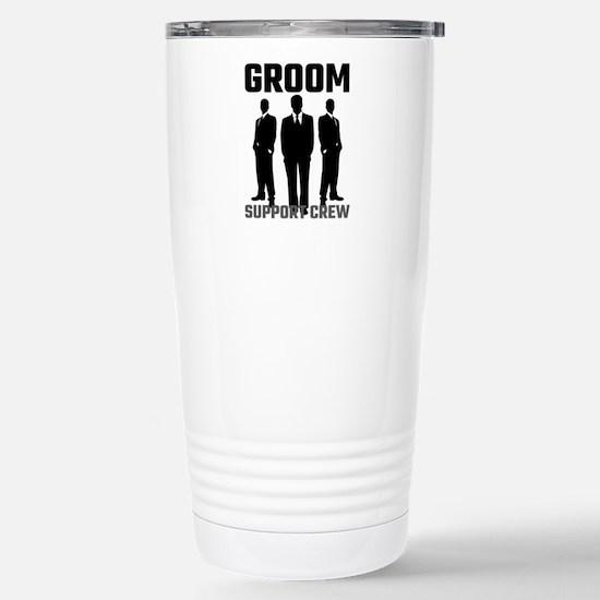 Groom Support Crew Stainless Steel Travel Mug
