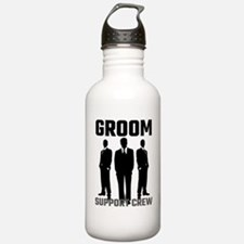 Groom Support Crew Sports Water Bottle
