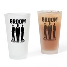 Groom Support Crew Drinking Glass